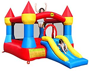 12 x 9ft Turret Kids Bouncy Castle complete with Airflow Fan