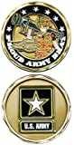 United States Military US Armed Forces Army Star Logo ''Proud Army Brat'' - Good Luck Double Sided Collectible Challenge Pewter Coin