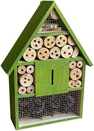 Insektenhotel hängend 285 x 95 x 400 mm, Nisthilfe für verschiedene Insekten in Grün