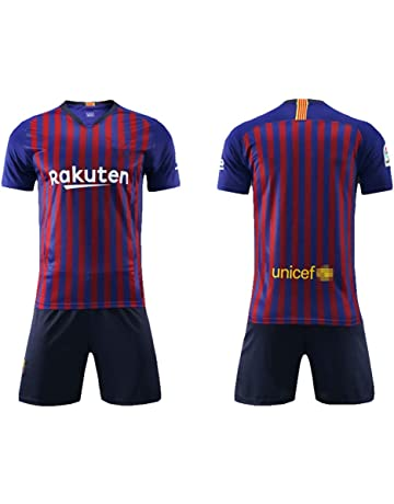 Daoseng Camiseta Jersey Futbol Barcelona 2018-2019 Traje de niños Manga Corta + Pantalones Cortos