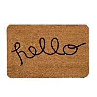 Tapete de Entrada, Design Shape Hello, 40X60 cm Decoración Hogar Rug Helio Hola Bienvenidos Welcome