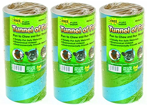 ((3 Pack) Ware Manufacturing Tunnels of Fun Small Pet Hideaway, Medium)