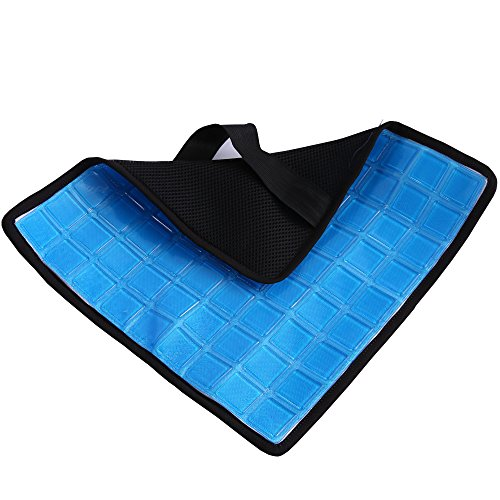 Standard Gel Pad (Magichome New Feature No Sweat Cooling Gel Pad for the Memory Foam Back Cushion and Lumbar Support Pillow - With Dual Premium Straps)