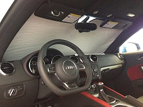 2010 Audi Tt Coupe - The Original Windshield Sun Shade, Custom-Fit for Audi TT Quattro Coupe 2007-2015, Silver Series