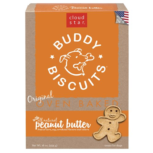 Cloud Star Buddy Biscuits Dog Treats, Peanut Butter Madness, 16-Ounce Boxes, Pack of 6