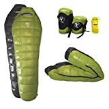 Outdoor Vitals - Down 0 Degree Down Sleeping Bag, Down, Ultra Compactable, Light Weight, Compression Bag (Green)