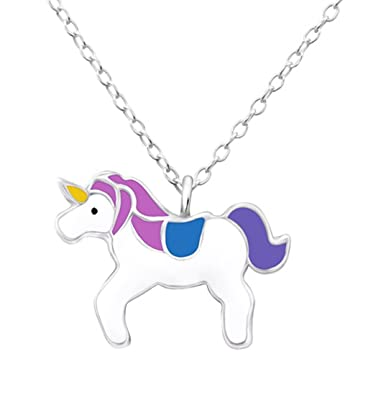 Pink Unicorn Necklace - Sterling Silver - Adjustable (36-39cm) c9UDfWoqq