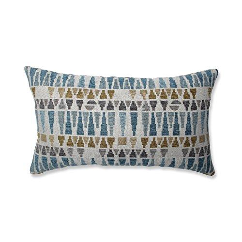Pillow Perfect Sky Gold/Gray Throw Pillow, Rectangular, Blue - Blue Rectangular Pillow