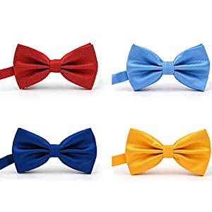 AVANTMEN 9 PCS Pre-tied Adjustable Bow Ties Set for Men Mixed Color Assorted Ties