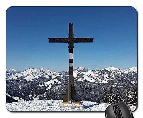 Mouse Pad - Rangiswanger Horn AllgAu Winter Summit Summit Cross