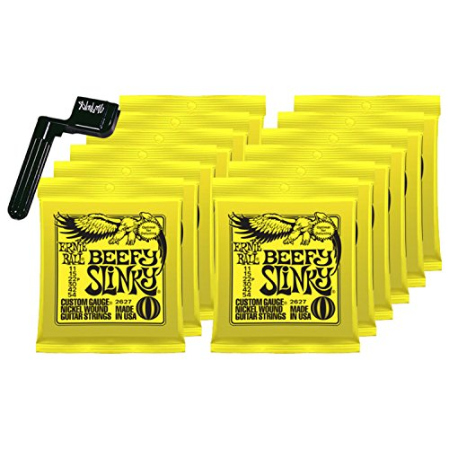 12 SETS Ernie Ball 2627 Nickel Beefy Slinky Drop Tuning Electric Guitar ()