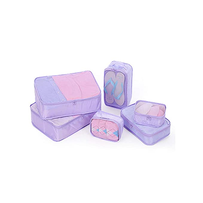 ec2a496433eb Sarazong Packing Cubes,Set Of 6 Luggage Organisers,Suitcase Storage ...
