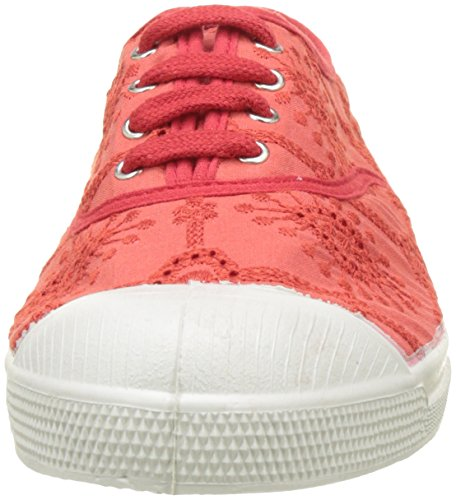 Bensimon Tennis Lacet Broderie Anglaise - Botas Mujer Rouge (Rouge)