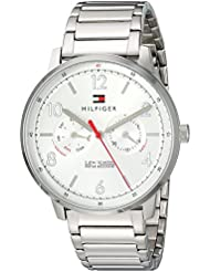 Tommy Hilfiger Mens Sophisticated Sport Quartz Stainless Steel Casual Watch, Color:Silver-Toned (Model: 1791355)