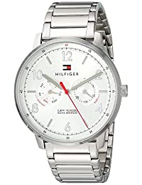 Tommy Hilfiger Men's 'Sophisticated Sport' Quartz Stainless Steel Casual Watch, Color:Silver-Toned (Model: 1791355)
