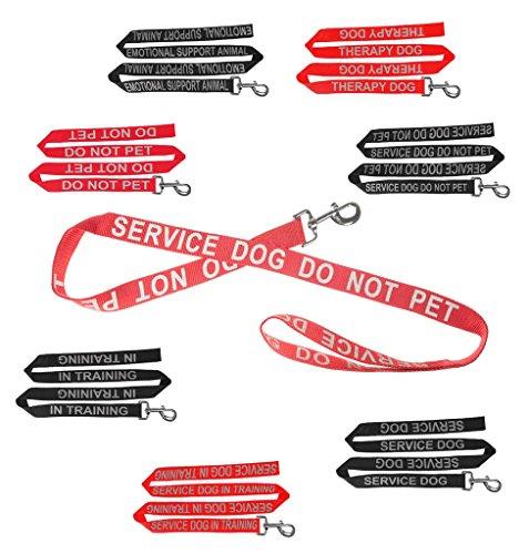 Dogline Reflective Letter EMOTIONAL SUPPORT ANIMAL Nylon Dog Leash for Service Dogs by Dogline