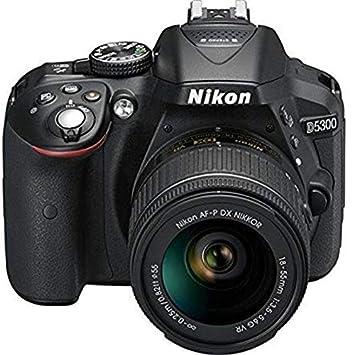 Nikon D5300 24.2MP Digital SLR Camera  Black  with AF P 18 55mm f/ 3.5 5.6g VR Kit Lens, 16 GB Card and Camera Bag Digital SLR Cameras