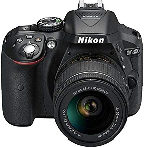 Renewed  Nikon D5300 24.2MP Digital SLR Camera  Black  with AF P 18 55mm f/ 3.5 5.6g VR Kit Lens, 16  GB Card and Camera Bag