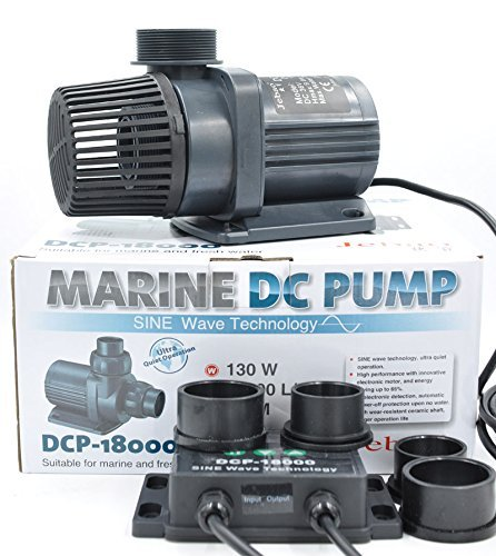 Jebao/Jecod DCP-3000~18000 Series Water Pump Sine Wave Super Silent Return Pump with Controller Amphibious Frequency Conversion Submersible Pump for Seawater/Fresh Water (DCP-18000)
