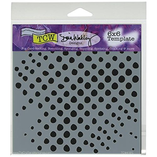 Crafter's Workshop Templates 6''X6''-Halftone Circles by CRAFTERS WORKSHOP