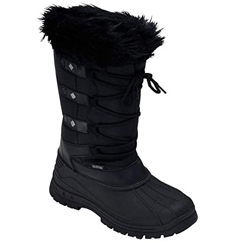 dd437fb80ed LADIES SNOW BOOTS WOMENS GIRLS WINTER MUCKER THERMAL FUR WELLINGTONS SHOES  SIZE  Amazon.co.uk  Shoes   Bags