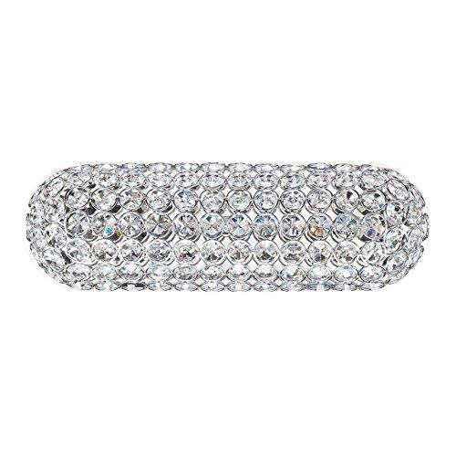 Kendal Lighting VF6500-3L-CH Venetia 3-Light Vanity Fixture, Chrome Finish and Optic Crystal Jewels