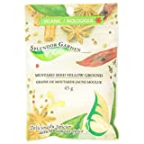 Splendor Garden Organic Mustard Seed Yellow Grd, 45gm