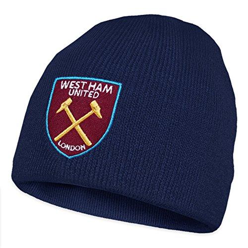 el punto Ham FC oficial club Gorro Con West United básico escudo Para niños de marino azul Gorro del x40qwPqdCn