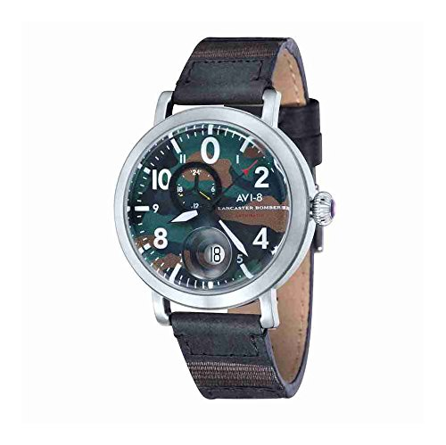 AVI-8 AV-4038-04 Mens Lancaster Bomber Black Leather Strap Watch