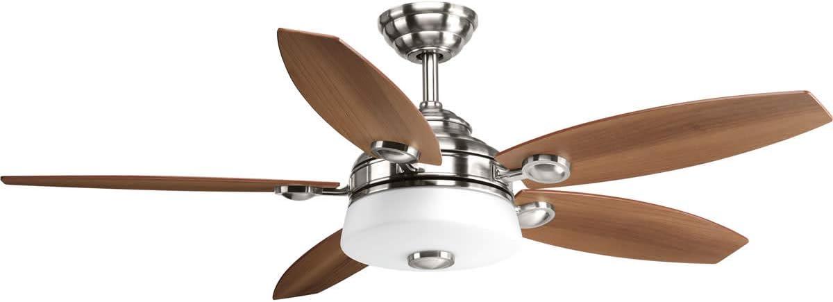 Progress Lighting P2544-0930K Graceful Collection 54 5 Blade Fan w LED Light, Brushed Nickel