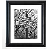 """Personalized Wedding Gift -""""Lover's Lane"""" Street Sign Art - The Perfect Present for the Bride and Groom or Anniversary - Customized Print Includes Names and the Special Date"""
