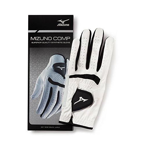 Mizuno Comp Glove, Left, White/Black, (Black Comp Gloves)