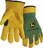 West Chester John Deere JD00008 Top Grain Deerskin Leather Driver Work Gloves: X-Large, 1 Pair