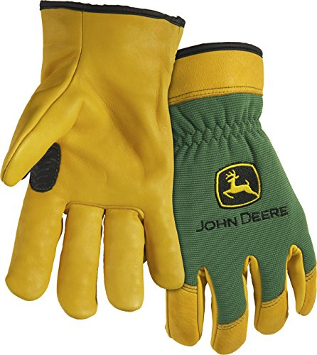 (West Chester John Deere JD00008 Top Grain Deerskin Leather Driver Work Gloves: X-Large, 1 Pair)