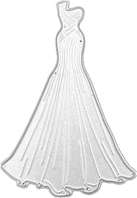 Crafts Metal Bride Wedding Gown Dress Die Cutter