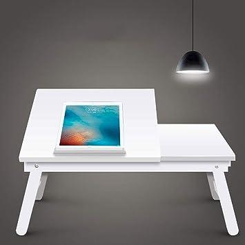 JVCZ - Mesa de madera para ordenador portátil, escritorio para ...