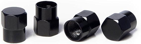 Circuit Performance VC3 Series Black Aluminum Valve Stem Caps (Set of 4)