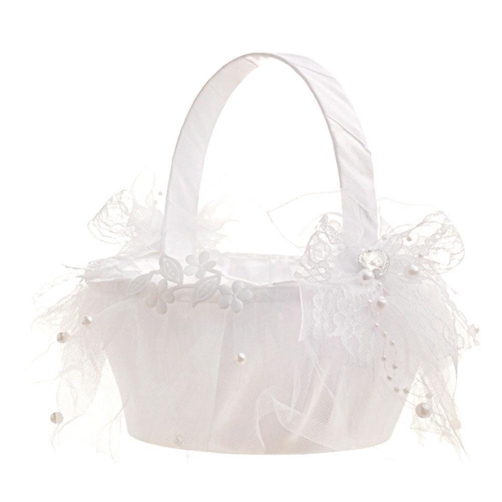 Taloyer Bride Hand Knit Ribbon Lace Flower Basket Delicate Wedding Supplies by Taloyer (Image #7)