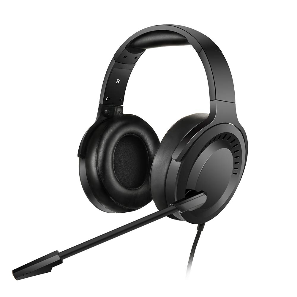 NUBWO N15 Gaming Headset for Xbox One PS4 PC with Flexible Mic Comfort Rotatable Earmuffs, Stereo Sound, Easy Volume Control for Xbox One S X Playstation 4 Computer Laptop Black