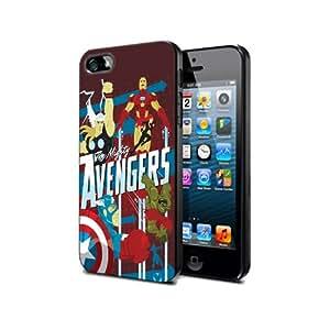 Diseño de AV04 en la película de Los Vengadores 2 para iPhone 5/5S Border carcasa de silicona para de goma negro @ pattayamart