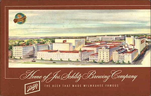 Home of the Jos. Schlitz Brewing Company Milwaukee, Wisconsin WI Original Vintage Postcard