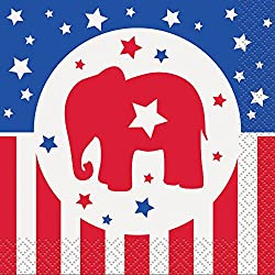 Republican Party Election Cocktail Napkins, 16ct