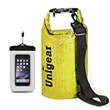 Dry Bag Sack, Waterproof Floating Dry Gear Bags for Boating, Kayaking, Fishing, Rafting, Swimming, Camping and Snowboarding (Yellow, 2L)
