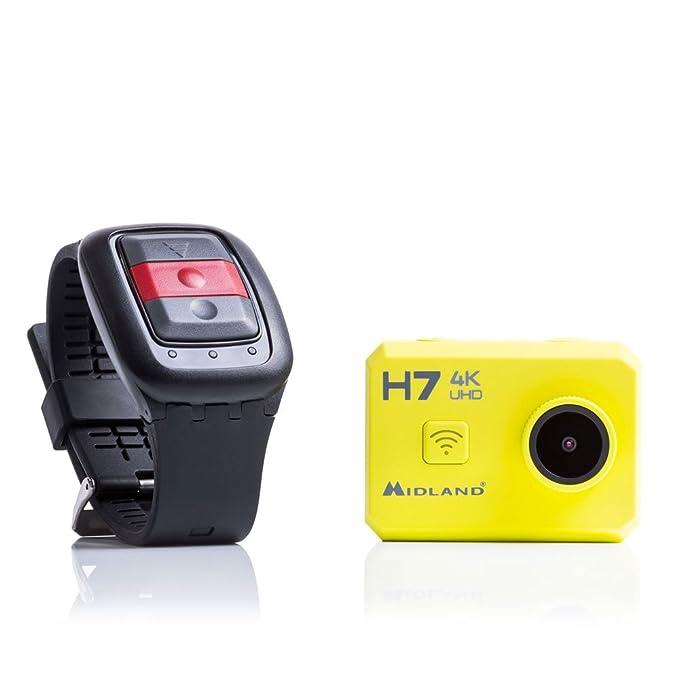 """20 opinioni per Midland H7 Action Cam 4K UHD- WiFi integrato- Display LCD da 2""""- Custodia"""