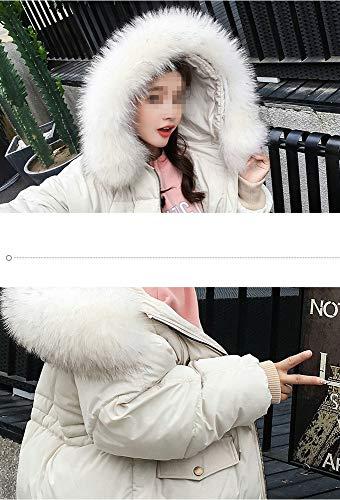 Dotoo Longue La En Détache Col Vêtements Fourrure Décontractée À Section Chauds White Coton Des Femmes frfwqF5d