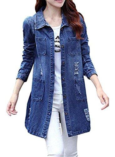 536b702e1ac58b Frauen Coats Gewaschene Stilvoll Herbst Mädchen Jacket Mantel Beiläufig  Outwear Vintage Denim Emin Jeansjacke Oberbekleidung Damen ...