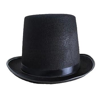 f85ad0dda9350 Pixnor Fieltro Chistera disfraces sombrero mago sombrero accesorio del  traje (negro)  Amazon.es  Juguetes y juegos
