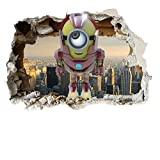 Minion Ironman 3D Smash 3 Sizes Wall stickers Vinyl wall art for cars bikes caravans homes Customise4U (minions ironman smash 70cm)