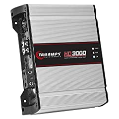 Taramp's is one of the leading brands in car audio in the world.  The HD Series amps are their best-selling models. They are famous for being excellent with bass as well as with voice. Technical Specs: Operation Class: D Number of Channels: 0...