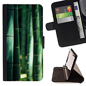 Momo Phone Case / Flip Funda de Cuero Case Cover - Bosque Natural de China Sol - Samsung Galaxy J1 J100